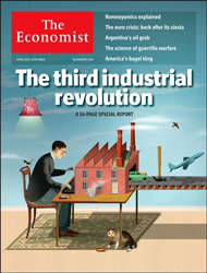 The Economist, April 2012. The third industrial revolution